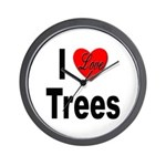 I Love Trees Wall Clock