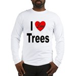 I Love Trees (Front) Long Sleeve T-Shirt