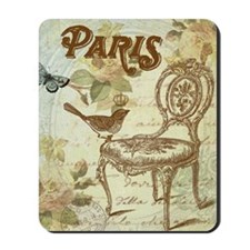 Vintage shabby chic French chair with bi Mousepad