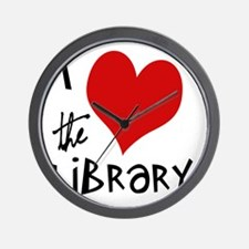 Library Love  Wall Clock
