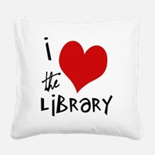 Library Love  Square Canvas Pillow