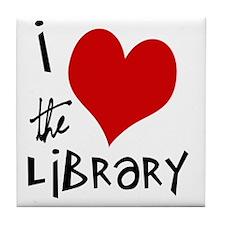 Library Love  Tile Coaster