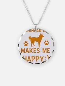 My Canaan Dog Makes Me Happy Necklace