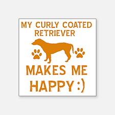 "My Curly Coated Retriever M Square Sticker 3"" x 3"""