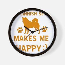 My Finnish Spitz Makes Me Happy Wall Clock