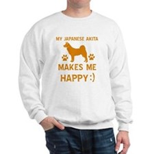 My Japanese Akita Makes Me Happy Sweatshirt