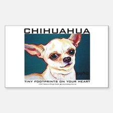 Tiny Footprints Chihuahua Rectangle Stickers