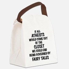 Atheist out of Closet, t shirt Canvas Lunch Bag