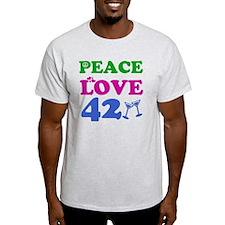 Peace Love 42 T-Shirt