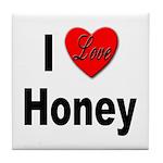 I Love Honey Tile Coaster