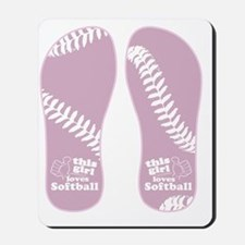 This Girl Loves Softball Mousepad