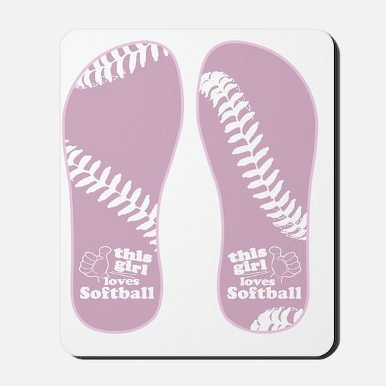 This Girl Loves Softball Mousepad