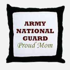 National Guard Proud Mom Throw Pillow