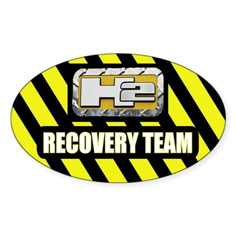 H2 Recovery Team Jeep Oval Sticker