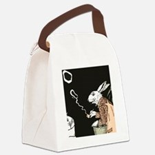 Pipe Smoking rabbit Canvas Lunch Bag