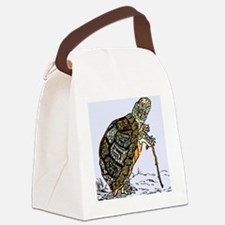 Our wise old friend the turtle Canvas Lunch Bag