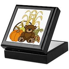 Autumn design with Pumkins and Teddy  Keepsake Box