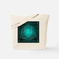 Teal Celtic Dragon Tote Bag