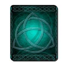Teal Celtic Dragon Mousepad