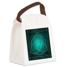 Teal Celtic Dragon Canvas Lunch Bag