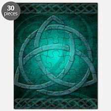 Teal Celtic Dragon Puzzle
