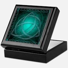 Teal Celtic Dragon Keepsake Box