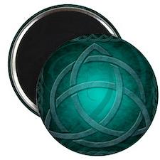 Teal Celtic Dragon Magnet