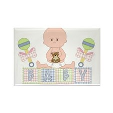 Cute Bald Baby Rectangle Magnet