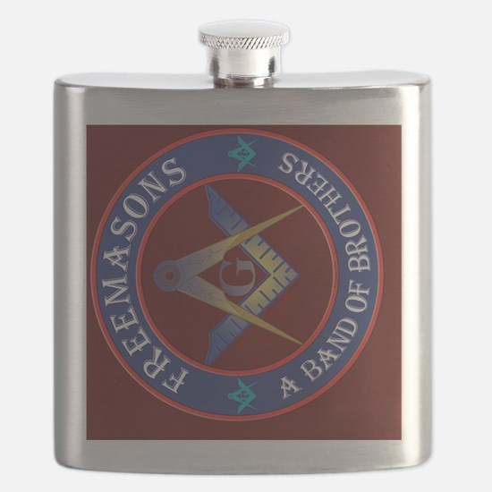 5x7 rug Masonic Brothers Flask