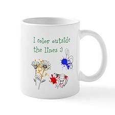 I Color Outside the Lines Mugs