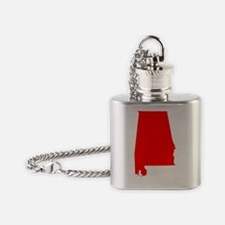 Bright Red Alabama Flask Necklace
