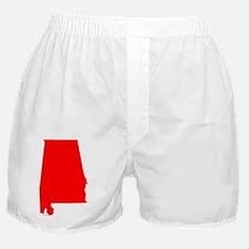 Bright Red Alabama Boxer Shorts