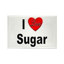 I Love Sugar Rectangle Magnet