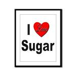 I Love Sugar Framed Panel Print