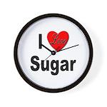 I Love Sugar Wall Clock