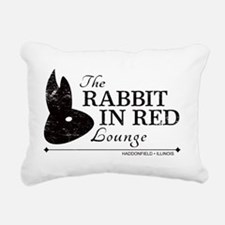 Rabbit in Red Lounge Rectangular Canvas Pillow