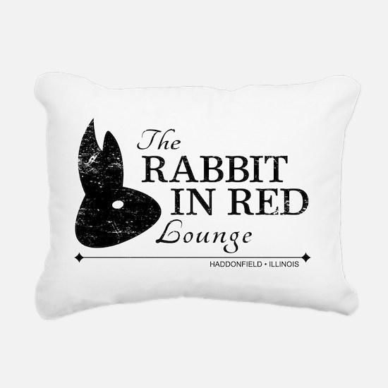 Rabbit in Red Lounge Rectangular Canvas Pillow