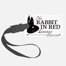 Rabbit in Red Lounge Luggage Tag