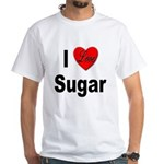 I Love Sugar (Front) White T-Shirt