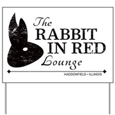 Rabbit in Red Lounge Yard Sign