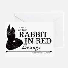 Rabbit in Red Lounge Greeting Card