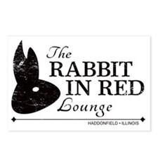 Rabbit in Red Lounge Postcards (Package of 8)