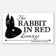 Rabbit in Red Lounge Decal