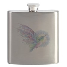 Hummingbird Art Flask