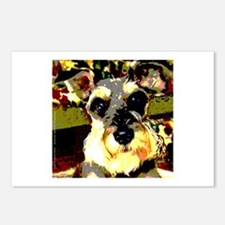 Colorful Schnauzer Postcards (Package of 8)