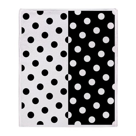 white and black polka dots throw blanket by admin cp3895098. Black Bedroom Furniture Sets. Home Design Ideas