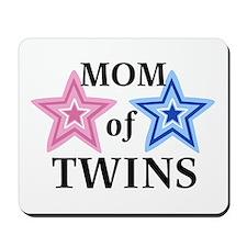 Mom of Twins (Girl, Boy) Mousepad