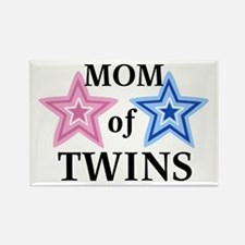 Mom of Twins (Girl, Boy) Rectangle Magnet