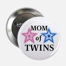 Mom of Twins (Girl, Boy) Button