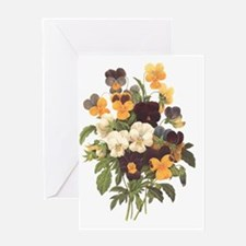 Redoute Pansies Greeting Card